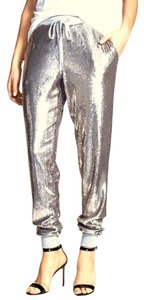 Michael Kors Sequin Jogging Relaxed Pants Pearl Heather