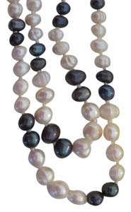 Khalsa NWT Khalsa Long Double Strand Pearl Necklace with Sterling Clasp