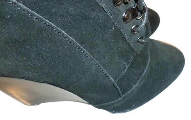 Item - Black Wedge Lace Boots/Booties Size US 7 Regular (M, B)