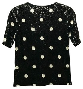 J.Crew T Shirt Sequins Sequins Sequins Top Black