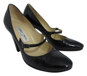 Jimmy Choo Mary Jane Buckle Strap Black Pumps