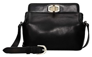Ann Taylor Leather Turnlock Cross Body Bag
