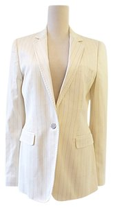 Dolce&Gabbana Cream stripe jacket pant suit