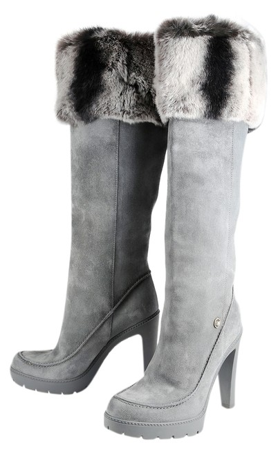 Dior Gray Suede Fur Lining Boots/Booties Size US 8.5 Regular (M, B) Dior Gray Suede Fur Lining Boots/Booties Size US 8.5 Regular (M, B) Image 1