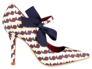 Tory Burch Bow Print Mary Jane Rare Multicolor Pumps