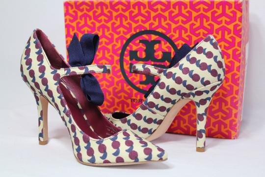 Tory Burch Bow Print Mary Jane Rare Multicolor Pumps Image 1