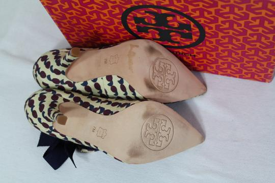 Tory Burch Bow Print Mary Jane Rare Multicolor Pumps Image 10