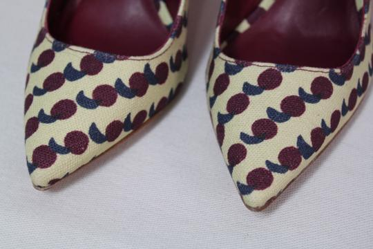 Tory Burch Bow Print Mary Jane Rare Multicolor Pumps Image 6