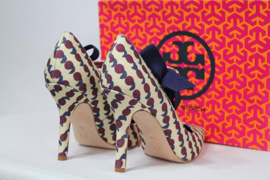 Tory Burch Bow Print Mary Jane Rare Multicolor Pumps Image 9