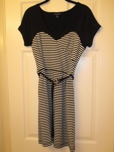 Banana Republic short dress Black, White on Tradesy