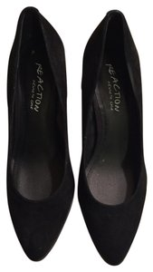 Kenneth Cole Chunky Heels Suede Heels Black Pumps