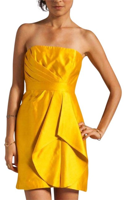 Preload https://item2.tradesy.com/images/shoshanna-yellow-strapless-above-knee-cocktail-dress-size-4-s-1137746-0-2.jpg?width=400&height=650