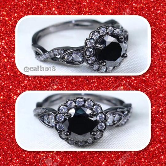 Other 1ct Agate Cz Black Gold Filled Image 2