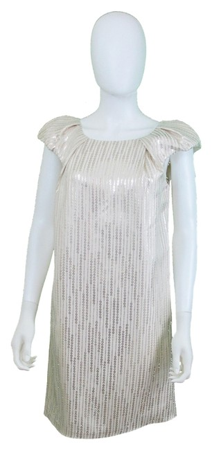 Preload https://item2.tradesy.com/images/behnaz-sarafpour-whitesilver-above-knee-cocktail-dress-size-4-s-1137826-0-0.jpg?width=400&height=650