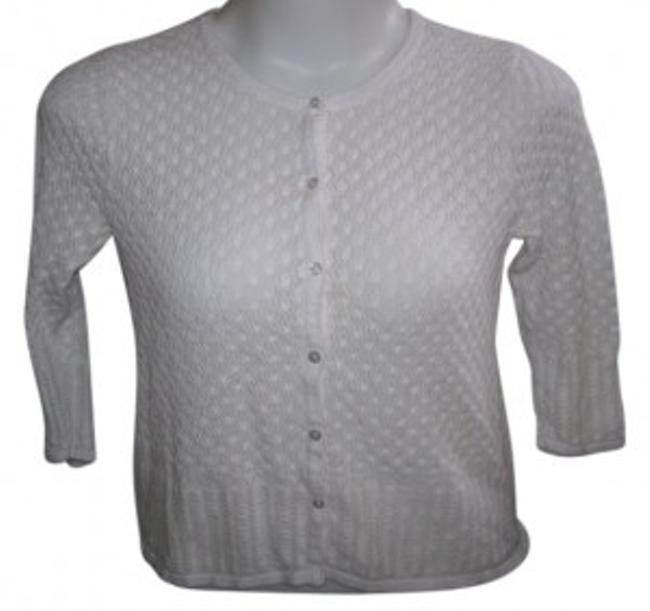 Item - XL 3/4 Sleeve Button Up White Sweater