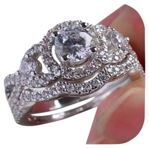 Other 4CTW 2pc Sparkly Wedding Ring Set