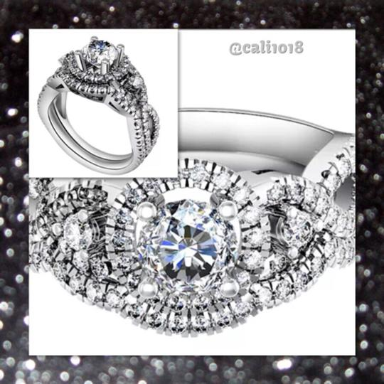 Other 4CTW 2pc Sparkly Wedding Ring Set Image 1