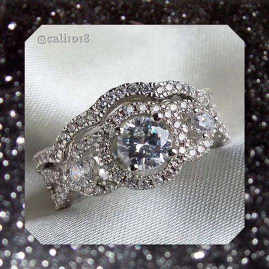 Other 4CTW 2pc Sparkly Wedding Ring Set Image 2