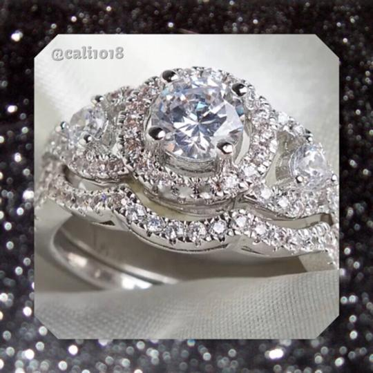 Other 4CTW 2pc Sparkly Wedding Ring Set Image 3