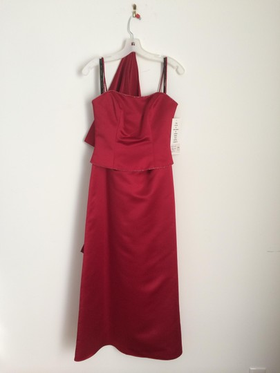 Bill Levkoff Deep Red Polyester Traditional Dress Size 4 (S)