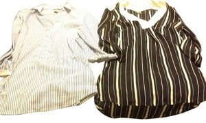 H&M Top Blue and White Striped