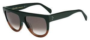 Céline Celine Shadow CL 41026/S Green Brown Contrast Flat Sunglasses