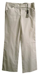 Express Flare Leg Fitted Low-rise Flare Pants White