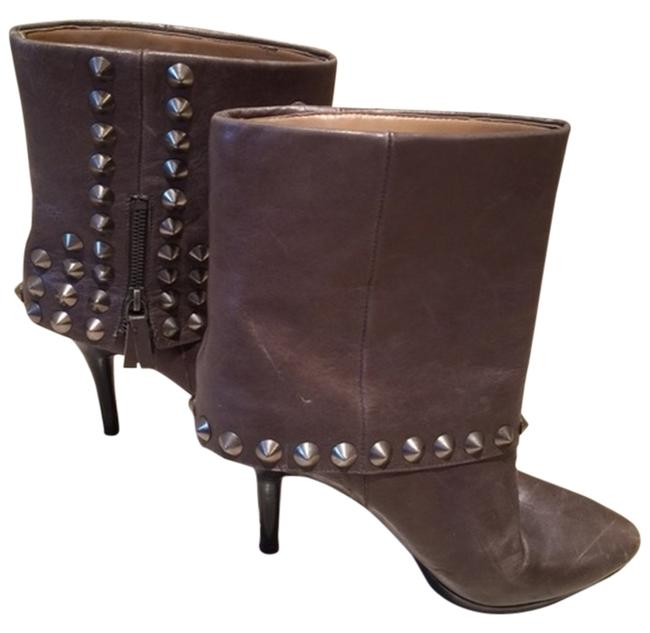 Nine West Taupe Leather Studded Boots/Booties Size US 8.5 Regular (M, B) Nine West Taupe Leather Studded Boots/Booties Size US 8.5 Regular (M, B) Image 1
