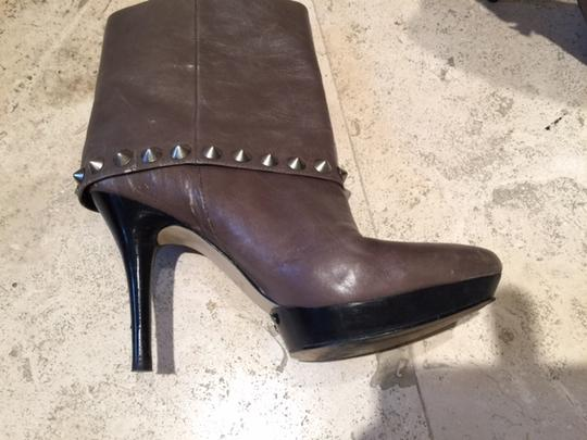 Nine West Studded TAUPE LEATHER Boots Image 1