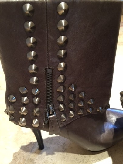 Nine West Studded TAUPE LEATHER Boots Image 2