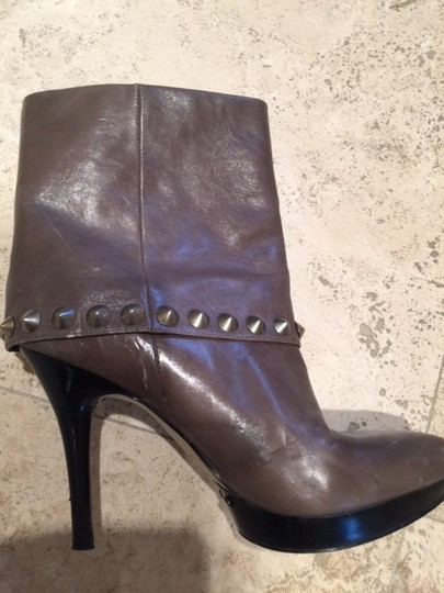 Nine West Studded TAUPE LEATHER Boots Image 3
