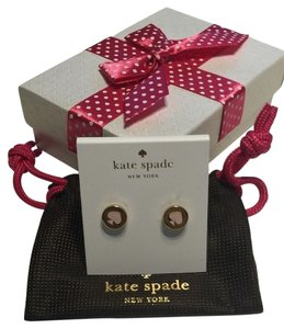 Kate Spade Kate Spade New York Spot The Spade Stud Earrings White