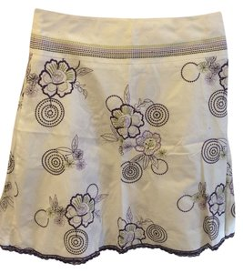 Halogen A-line Summer Skirt White and Purple