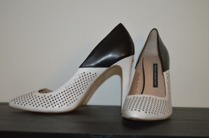 French Connection Black and White Pumps
