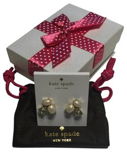 Kate Spade Kate Spade New York Cream Pearl/Clear Stone Cluster Earrings