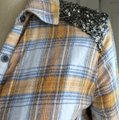 Free People Sequin Plaid Tunic Nordstrom Button Down Shirt Yellow Image 2