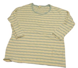 Sonoma T Shirt baby blue with cream stripes
