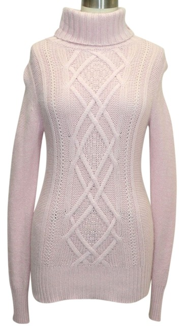 Preload https://item5.tradesy.com/images/jcrew-pink-cable-turtle-neck-xsmall-msrp-118-sweaterpullover-size-2-xs-1137969-0-0.jpg?width=400&height=650