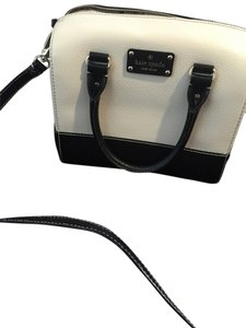 Kate Spade Mini Cassie Satchel in white/black