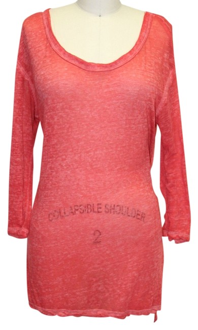 Preload https://item1.tradesy.com/images/free-people-red-we-the-by-distressed-off-shoulder-tunic-size-2-xs-1137980-0-0.jpg?width=400&height=650