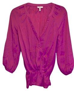 Joie Silk Top Magenta