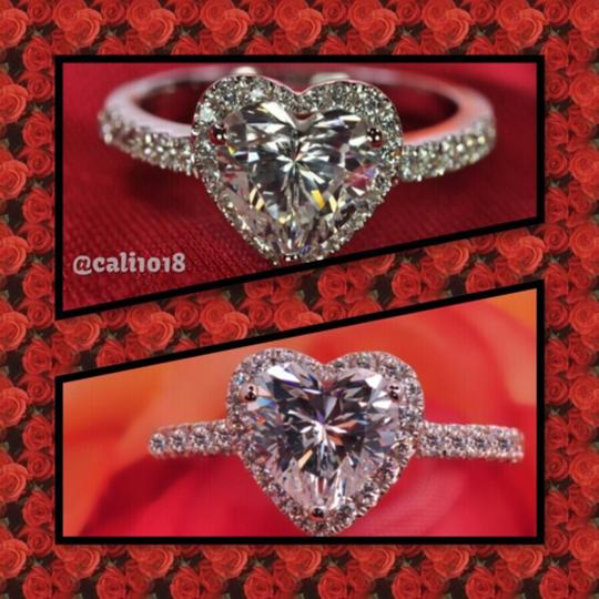 Other 1CT Center Heart Shaped Stone With Cz Accents; .925 Silver Image 2