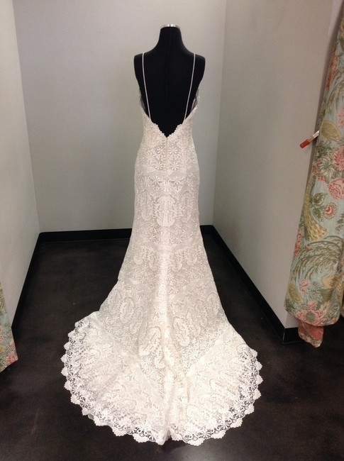 Item - Ivory Over Nude Lace Emmanuelle Sexy Wedding Dress Size 10 (M)
