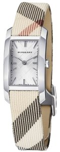Burberry Burberry Women's Heritage Nova Check Leather Silver Tone Stainless Steel Watch BU9503