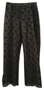 Worthington Wide Leg Pants Black/ Tan