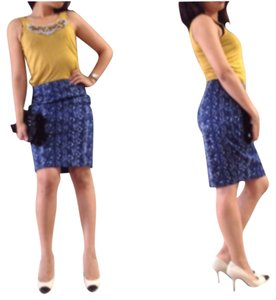 Tahari Skirt Navy Blue
