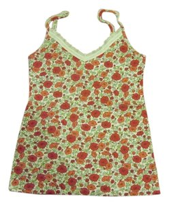 Old Navy Top Red, pink and green flowers