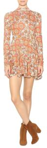 Free People short dress orange/brown/yellow Tunic Mauve Print Annabelle on Tradesy
