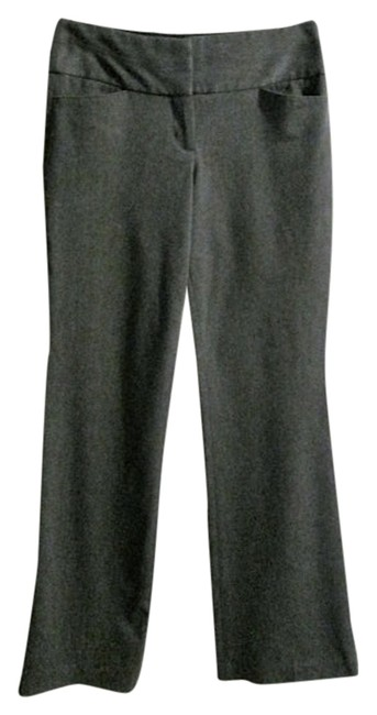 Express Stretchy Wide Waistband Low-rise Classic Slim-fit Chic Summer Spring Fall Flare Pants Gray