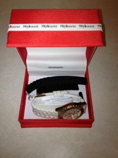 Style & Co Macy's Watch - Black and White Straps Included